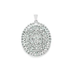 Espirito Santo Aquamarine Pendant in Sterling Silver 17.34cts