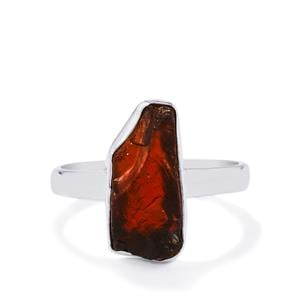 3.68ct Mozambique Garnet Sterling Silver Ring