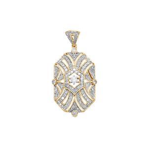 Diamond Pendant in 10k Gold 0.87ct