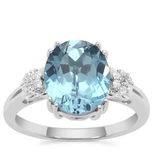 Versailles Topaz Ring with White Zircon in Sterling Silver 4.60cts