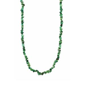 Emerald Nugget Bead Necklace 70cts