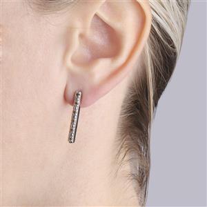 Yellow Diamond Bridge Earrings in Sterling Silver 0.28ct