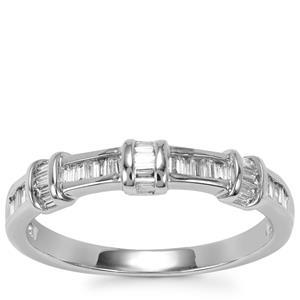 Diamond Ring in 18K White Gold 0.26ct