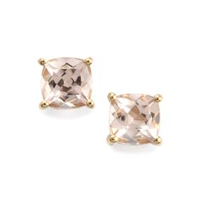 0.97ct Alto Ligonha Morganite 10K Gold Earrings