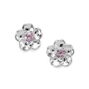 0.85ct Rose du Maroc Amethyst Sterling Silver Earrings