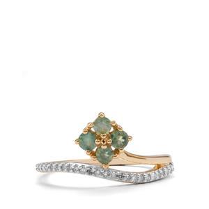 Alexandrite & Diamond 9K Gold Ring ATGW 0.50cts