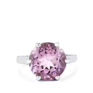Rose De France Amethyst Ring in Sterling Silver 5.34cts