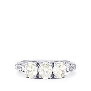 3.09ct Singida Tanzanian Zircon Sterling Silver Ring