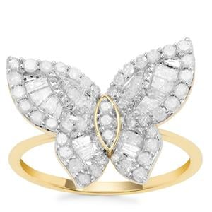 Diamond Ring in 9K Gold 1cts
