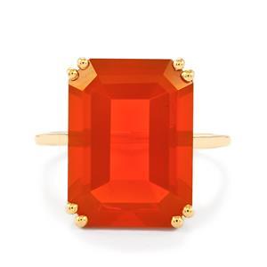 AAA Orange American Fire Opal Ring  in 10k Gold 7.7cts
