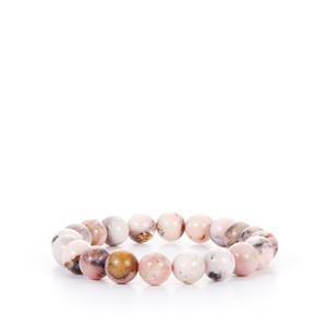 Peruvian Pink Opal Elastic Bracelet 108cts
