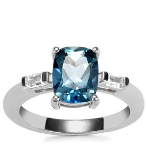 Santa Maria Topaz Ring with White Topaz in Sterling Silver 2.74cts