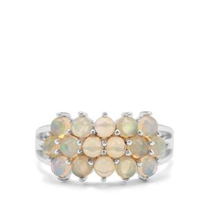 1.51ct Ethiopian Opal Sterling Silver Ring