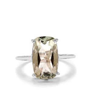 Prasiolite Ring in Sterling Silver 5.27cts