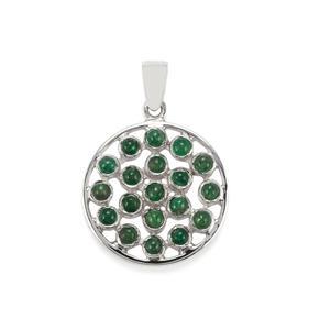 Itabira Emerald Pendant in Sterling Silver 2.74cts