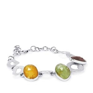 Rainbow Sapphire Bracelet in Sterling Silver 32.41cts