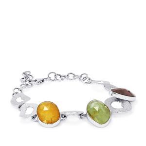 32.41ct Rainbow Sapphire Sterling Silver Aryonna Bracelet