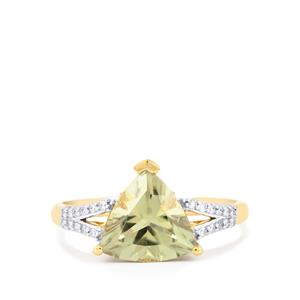Csarite® Ring with Diamond in 18K Gold 2.62cts