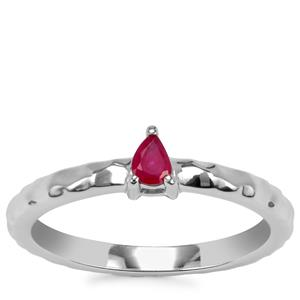 Burmese Ruby Ring in Sterling Silver 0.13ct