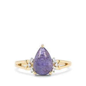 Tanzanite & Diamond 9K Gold Ring ATGW 2.83cts