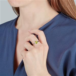 Changbai Peridot Ring  in Sterling Silver 1.24cts