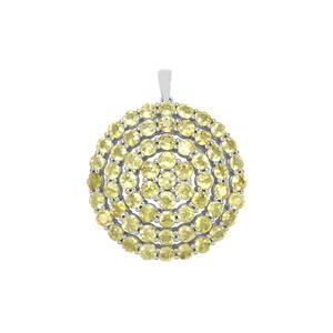 Ambilobe Sphene Pendant in Sterling Silver 11.36cts