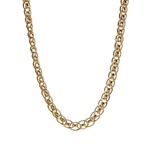 "18"" 9K Gold Altro Fancy Link Necklace 8.70g"