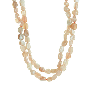 Peach Moonstone Necklace 2.73cts