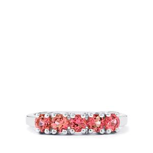 0.82ct Pink Tourmaline Sterling Silver Ring