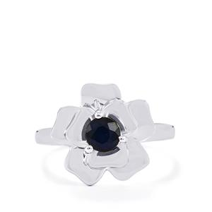 0.68ct Blue Sapphire Sterling Silver Ring