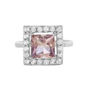 Anahi Ametrine Ring with White Topaz in Sterling Silver 3.22cts