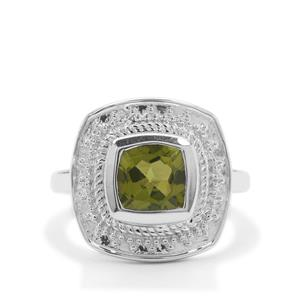 2.23ct Red Dragon Peridot Sterling Silver Ring