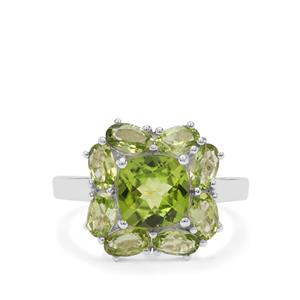 Red Dragon Peridot Ring in Sterling Silver 4.05cts