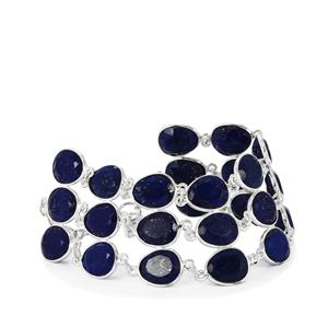 Lapis Lazuli Bracelet in Sterling Silver 79.78cts