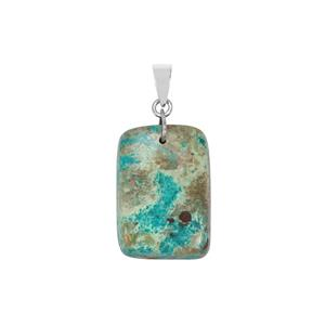 Chrysocolla Pendant in Sterling Silver 28cts
