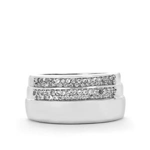 White Topaz Ring in Sterling Silver 0.38ct