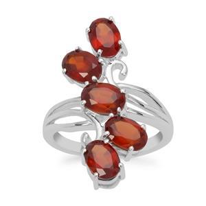 Gooseberry Grossular Garnet Ring in Sterling Silver 4.83cts