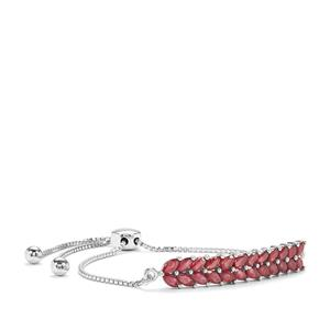 Malagasy Ruby Slider Bracelet in Sterling Silver 5.04cts (F)