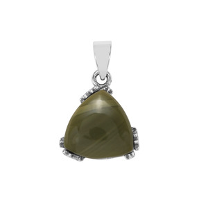 7.29ct  Imperial Chalcedony Sterling Silver Pendant