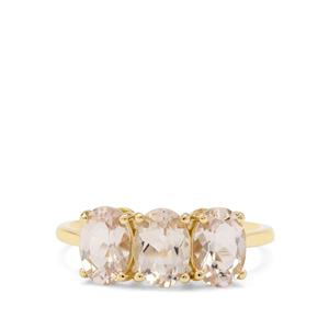 Champagne Danburite Ring in 9K Gold 2.30cts