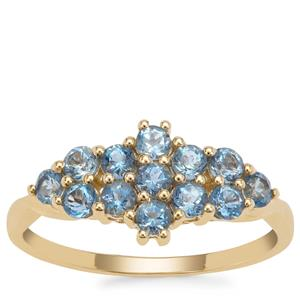 Nigerian Aquamarine Ring in 9K Gold 0.83ct