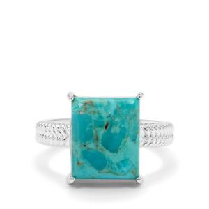 Cochise Turquoise Ring in Sterling Silver 5.75cts