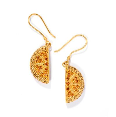 NOVA CITRINE AND GARNET DROP EARRINGS