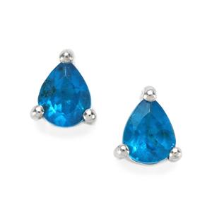 Neon Apatite Earrings in Sterling Silver 0.60cts