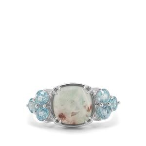 Aquaprase™ Ring with Ratanakiri Blue Zircon in Sterling Silver 5.83cts
