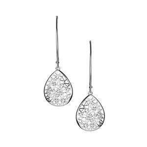 White Topaz Earrings in Sterling Silver 0.61cts