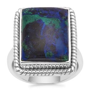 Azure Malachite Ring in Sterling Silver 11.35cts