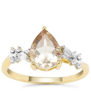 Serenite Ring with White Zircon in 9K Gold 1.71cts