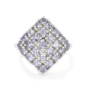 1.82ct AA Tanzanite Sterling Silver Ring