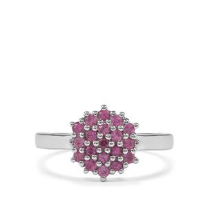 Sakaraha Pink Sapphire Ring in Sterling Silver 0.49ct